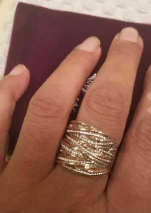 2 Tone Statement Chunky Band Ring - Gold and Silver for Sale in Cleveland, OH