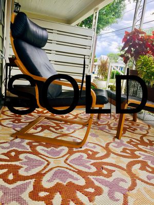 SOLD Lounge Armchair & Ottoman Ikea for Sale in Tampa, FL