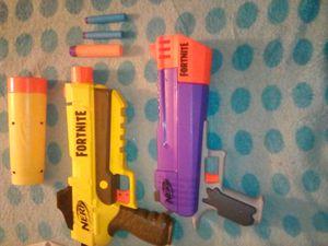 Fortnite Nerf guns (3)bullets for Sale in Palmdale, CA