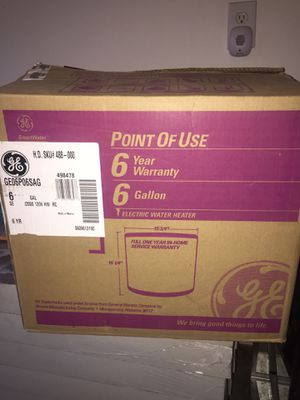 GE 6 gallon electric water heater (Brand new) for Sale in Cle Elum, WA