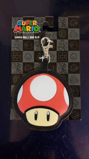 "Nintendo Super Mario Bros. ""Red Mushroom"" Zipper Pull /Bag Clip (NES) for Sale in Wareham, MA"