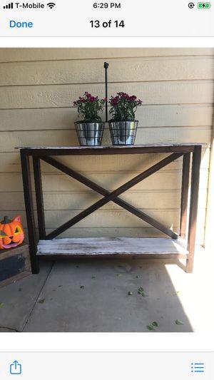 Farmhouse console table 42L x 10D x 31H for Sale in Phoenix, AZ