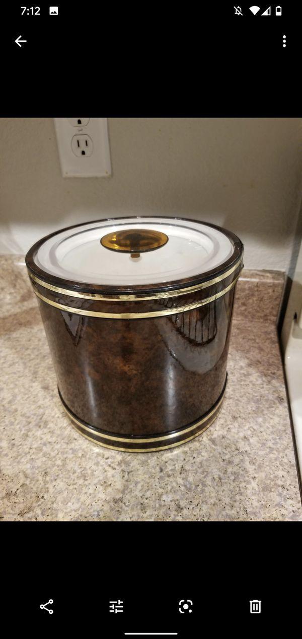 Mid century modern vintage ice bucket barware