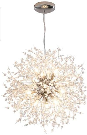 Contemporary 12-Lights Fireworks Light, (Silver) Crystal Ceiling Light Fixture for Bedroom,Living Room,Dining Room for Sale in Hidden Hills, CA