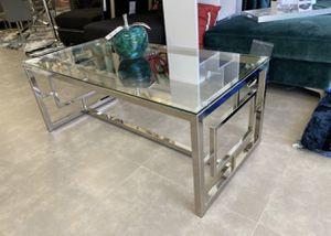 New chrome glass coffee table for Sale in North Miami Beach, FL