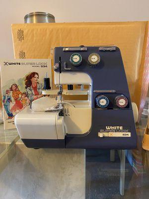 White Superlock 534 Serger Sewing Machine for Sale in Pottsville, PA