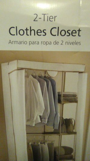 2 tier clothes closet for Sale in Tampa, FL