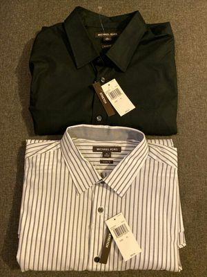 Michael Kors Dressing shirts Size XL New 45 each for Sale in Los Angeles, CA
