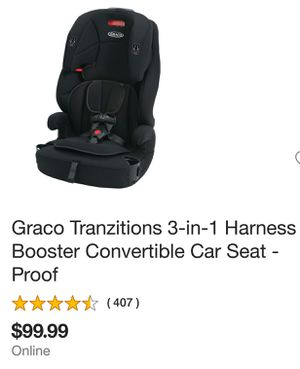 Graco Tranzitions 3in1 Car Seat for Sale in Whittier, CA