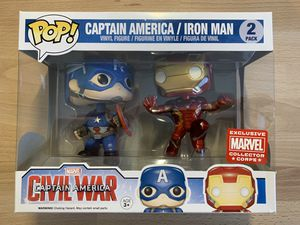 Funko Pop! - Captain America/Iron Man Civil War - Marvel Collector Corps for Sale in Hialeah, FL