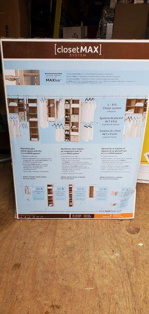 Closet max 9 piece organizer system for Sale in Dallas, GA