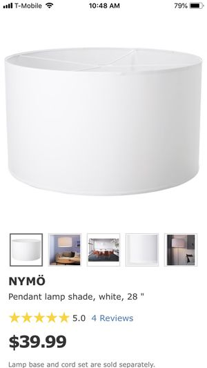 Ikea NYMO lamp shade. In Box. Never used for Sale in Miami Beach, FL