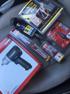 Husky 1/2 in impact wrench,Bosch hammer drill bit,Diablo reciprocating blades,Diablo classical cove & bead bit,Milwaukee #4 step drill bit,General Do for Sale in Gulfport, MS