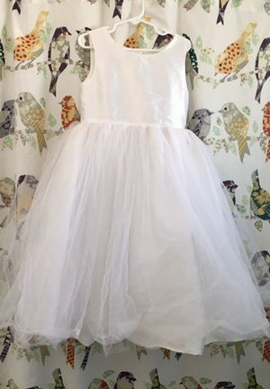 Girls White Dress size 7-8 for Sale in Covina, CA