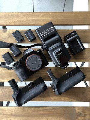 Sony A7 + Extras (Flash, Battery Grips, and more!) for Sale in Windermere, FL