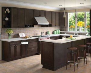 Forever Mark Kitchen Cabinets K-Espresso Glaze 10x10 All Wood Sale for Sale in Owings Mills, MD