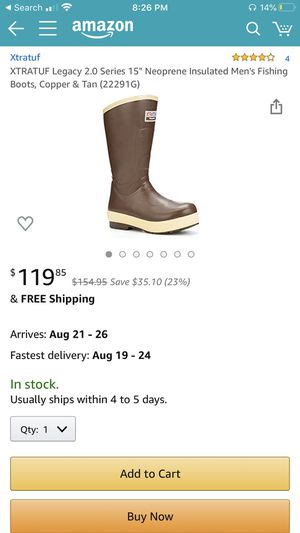 "Xtratuf XTRATUF Legacy 2.0 Series 15"" Neoprene Insulated Men's Fishing Boots, Copper & Tan (22291G) sz 9 for Sale in Clovis, CA"