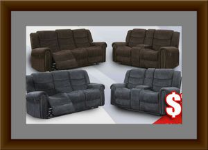 Grey or chocolate recliner set free delivery for Sale in Gambrills, MD