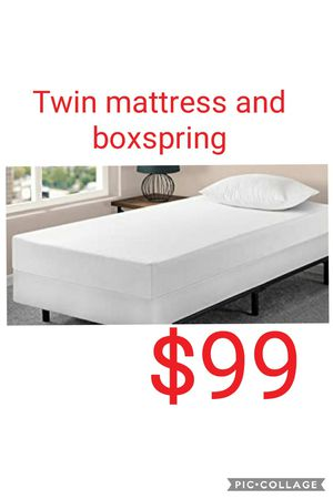 Twin mattress and smart boxspring for Sale in Las Vegas, NV