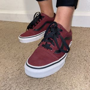 maroon old skool vans (men's 5, women's 6.5) for Sale in Concord, CA