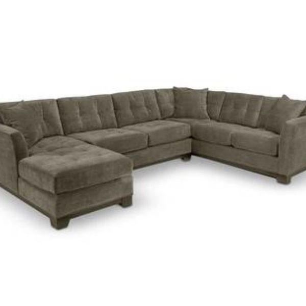 Elliot Fabric Microfiber 3-Piece Chaise Sectional Sofa, Created for Macy's and Elliot Fabric Microfiber Storage Ottoman. No longer available. In color