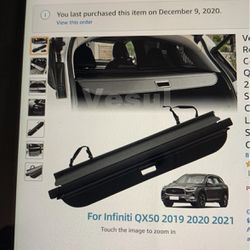 Retractable Rear Trunk Cargo Cover For Infiniti QX50 for Sale in Corona,  CA