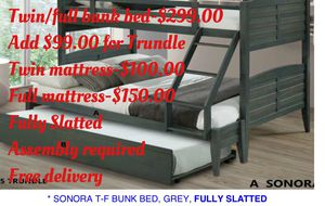 Twin/full bunk bed. Assembly required. Free delivery for Sale in Torrance, CA