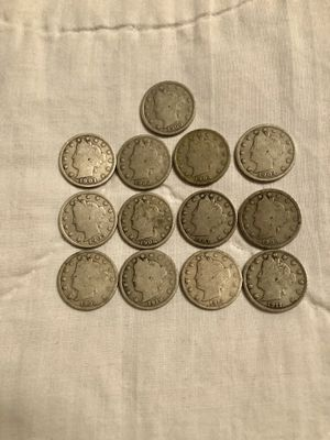 Coins - 1900 thru 1912-Philadelphia mint-Liberty V nickels for Sale in Marietta, GA