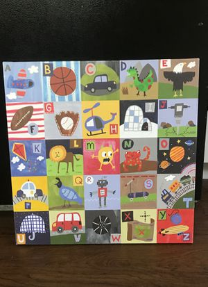 Canvas painting kids decor for Sale in Oakley, CA