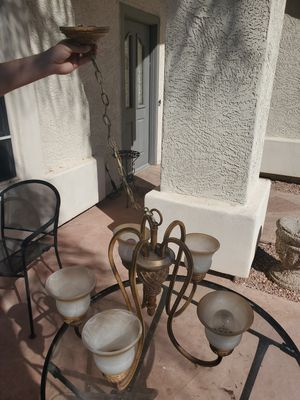 Iron Light fixture (MUST SELL BY 6/26) for Sale in Glendale, AZ