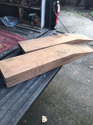 Wood vehicle ramps. for Sale in Vancouver, WA