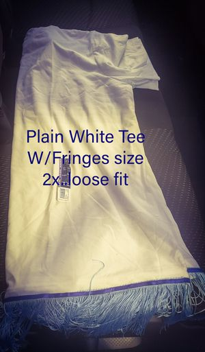 Hebrew Custom Plain White T w/fringes..size 2x loose fit for Sale in Vallejo, CA