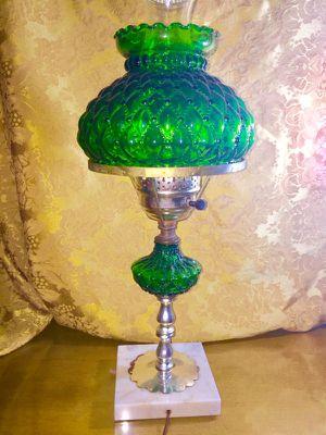 Green hurricane lamp for Sale in Grosse Pointe Park, MI