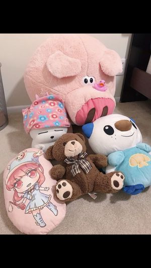 Toys, Stuffed Animals, Pillow for Kids Bundle/Lot (Japanese Anime, Pokemon, Sanrio, Teddy Bears, etc) for Sale in Garden Grove, CA