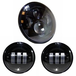 """Motorcycle 7"""" LED Headlight Projector for Harley Davidson with Black 4-1/2 LED Passing Lamps for Sale in Fullerton, CA"""