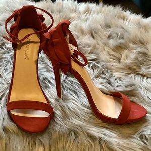 Shoedazzle Jadira Red Suede Heels size 8.5 for Sale in Washington, DC