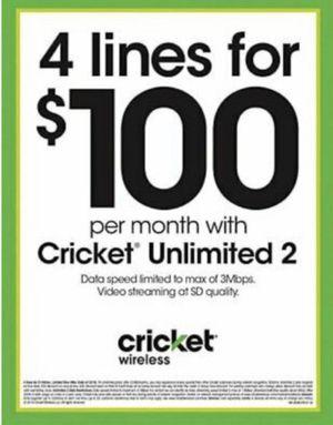 Free phones at Cricket wireless for Sale in Manassas, VA