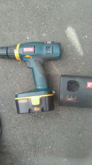 18v Ryobi drill and charger for Sale in Aurora, CO