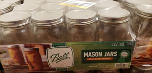 Ball 32 oz 12 pack wide mouth mason jars for Sale in Alhambra, CA