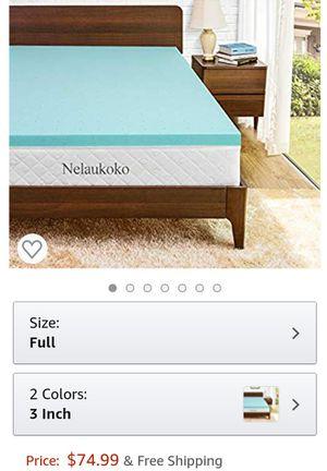 3 inch Full Size mattress topper for Sale in Bakersfield, CA