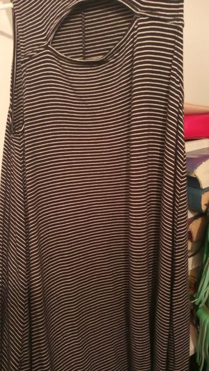 Black and white dress soft and sexy size small for the summer very soft material for Sale in San Antonio, TX