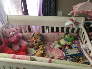 Baby crib and attached changing table with matress for Sale in Costa Mesa, CA