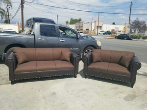 NEW BROWN FABRIC COUCHES for Sale in Long Beach, CA