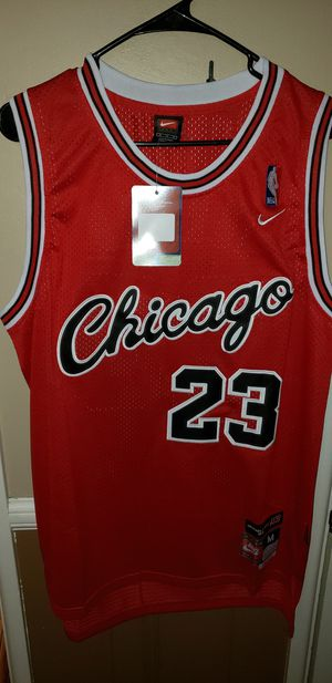 Men's Medium Michael Jordan Chicago Bulls Jersey New with Tags Stiched Nike $45. Ships +$3. Pick up in West Covina for Sale in Covina, CA