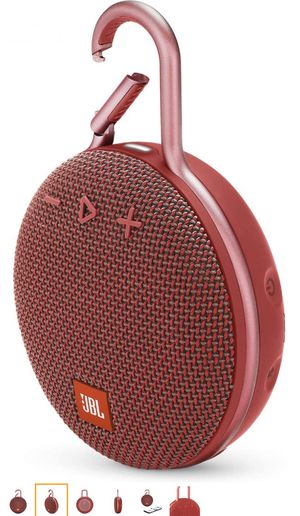 JBL CLIP RED Portable Bluetooth/Wireless/Waterproof Speaker for Sale in Gardena, CA