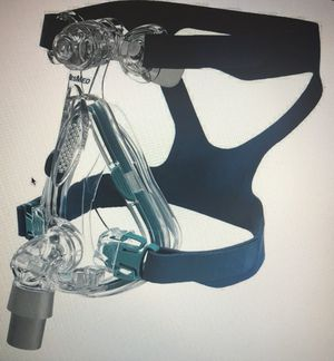Resumes Mirage Quattro Full Face CPAP Mask & Headgear Kit Size Medium for Sale in Brentwood, NC