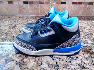 96a1dc9f5ffd56 Nike Air Jordan 3 III Retro Sport Blue GS BG Size 5Y black cement 398614 007
