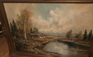 Beautiful Oil Painting From Germany for Sale in Hudson, FL