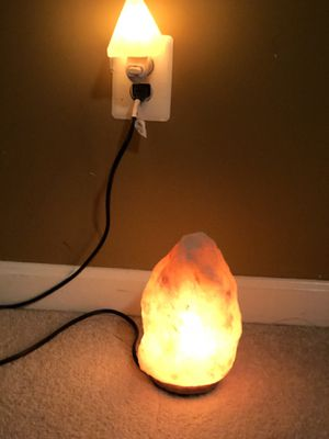 Beautiful Himalayan Salt Lamp and salt night light for Sale in Leesburg, VA
