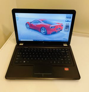 "HP LAPTOP Dual Core AMD Phenom @2,60 GHz, ATI HD Graphics, 160GB HDD, 4G RAM, Camera, WIFI/DVD R/W/2 USB/VGA/HDMI/Card Reader/14,5"" Screen. Win10 Pro for Sale in Plantation, FL"